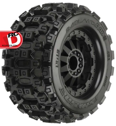 pro line badlands mx28 2 8 traxxas style bead all terrain truck tires rc driver. Black Bedroom Furniture Sets. Home Design Ideas