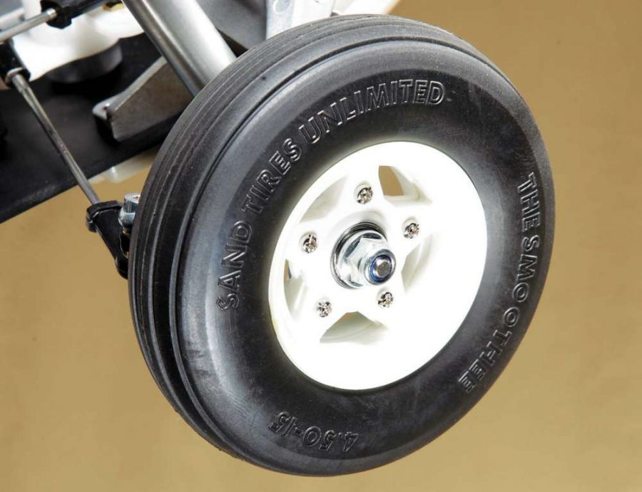 The wheels and tires are excellent replicas of the classic rollers. Like the originals, they do not come with internal foams; they are simply air filled.