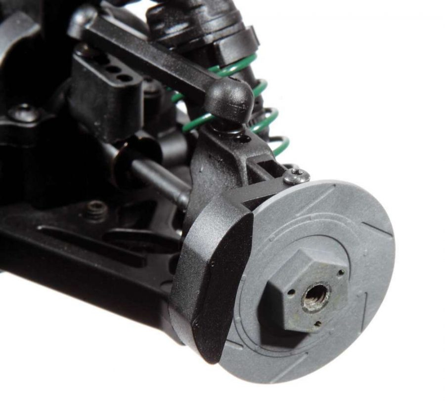 Pull those tires off and you'll see a little extra scale fun in the form of detailed brake components.