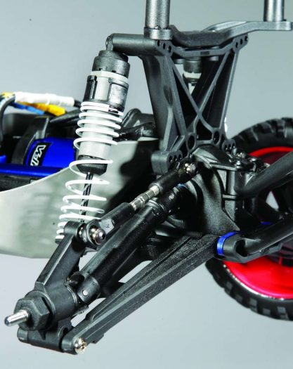 The suspension has come a long way from the very early models. Plush shocks help dampen the ride while heavy duty telescoping driveshafts send the power to all four wheels. Lots of tuning adjust- ments are also available for you track fanatics.