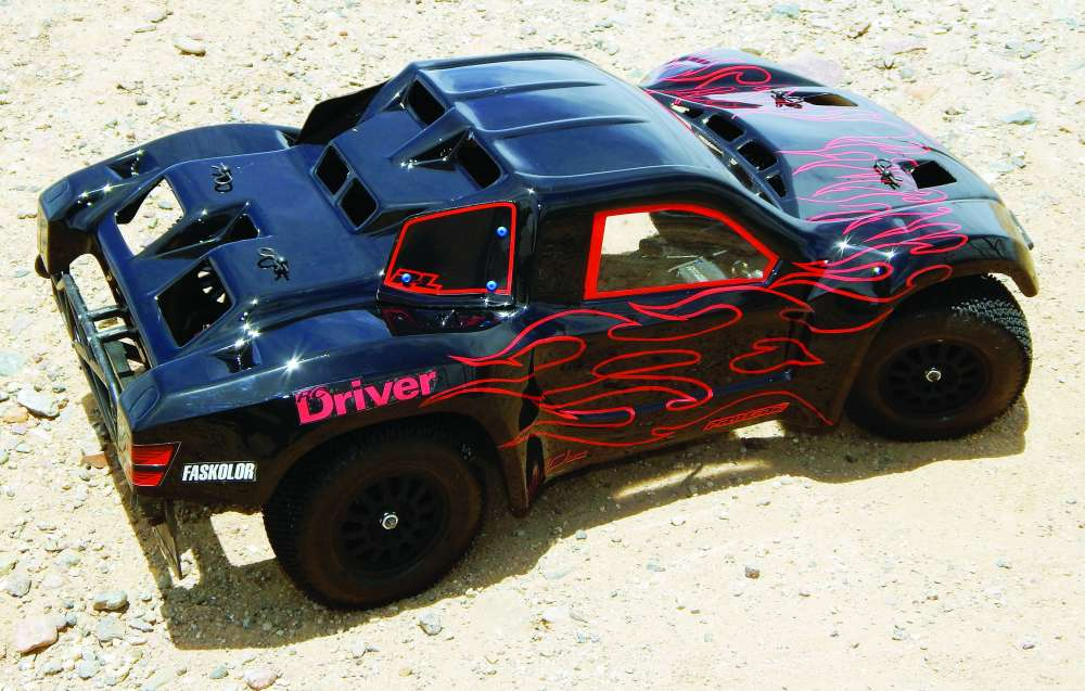 Try This Slick Black On Black Flames RC Car Paint Scheme - RC Driver
