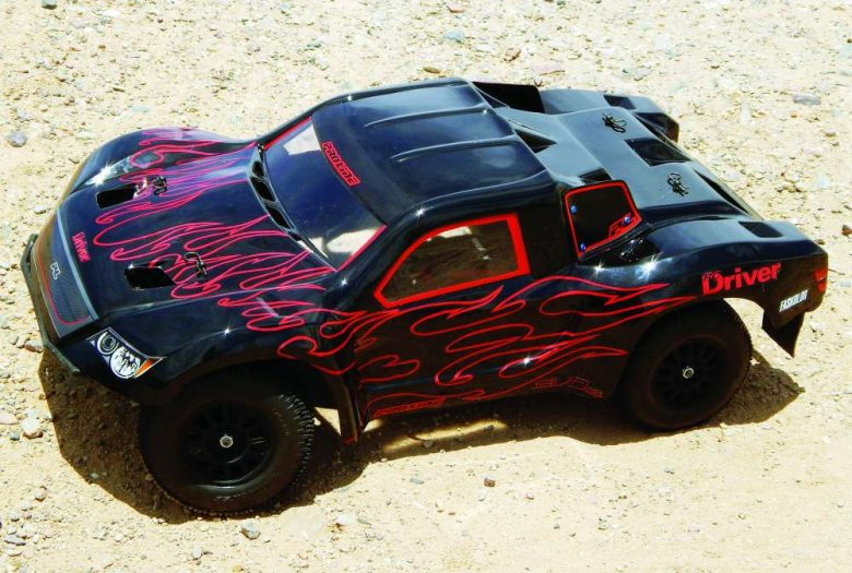 Try This Slick Black On Black Flames RC Car Paint Scheme-4