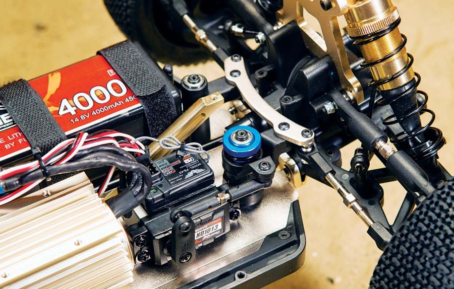 The ND1013 servo has monstrous amounts of torque to swing those big 1/8 tires around and keep them planted.