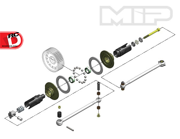 MIP - Roller Pucks Bi-Metal Drive System for the TLR 22 3