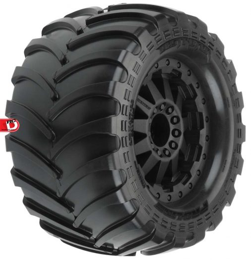 Pro-Line - Destroyer 2.8 All Terrain Tires Mounted on Black F-11 Wheels