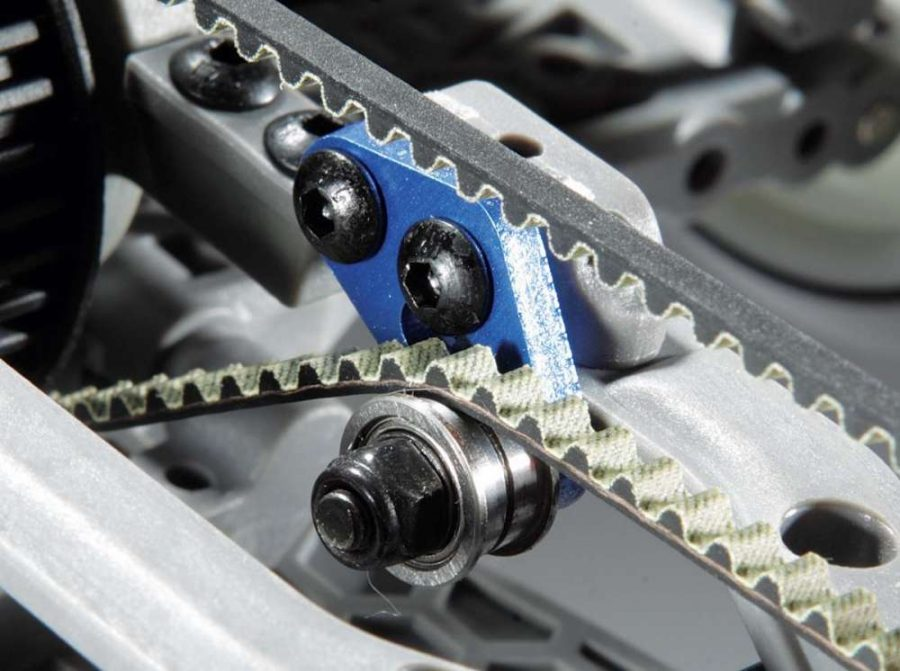 The long belt belt tensioner is ball bearing supported. Keep an eye on belt tension as your car wears in.