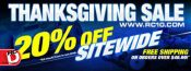 Team Associated Thanksgiving Weekend – Sitewide 20% Off Sale