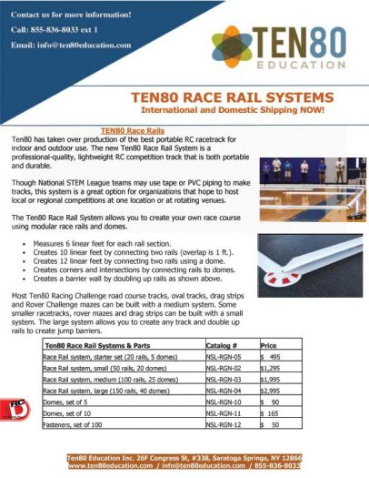 Ten80 Race Rail Systems 1 Save Big on Ten80 Race Rail Systems!