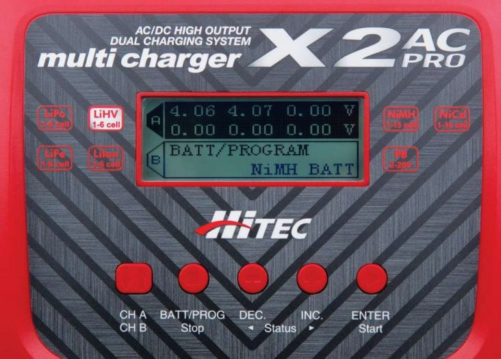 Hitec x2 ac pro battery charger
