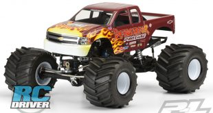 2007 Chevy Silverado Clear Body for Solid Axle Monster Truck from Pro-Line