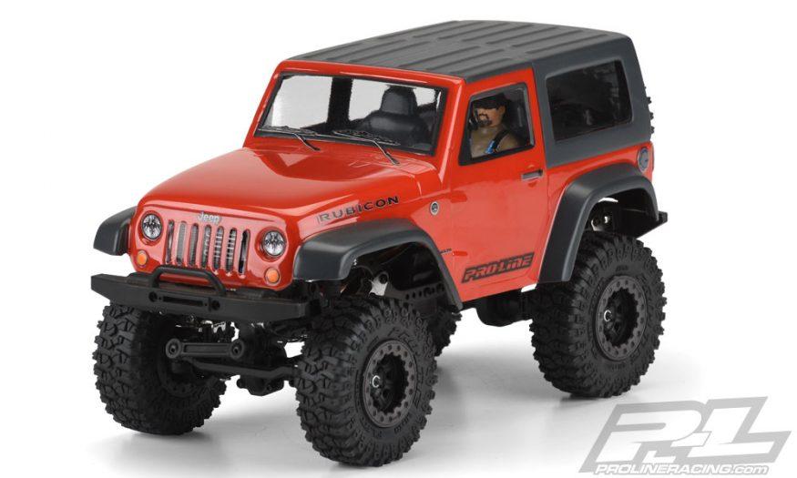 Jeep Wrangler Rubicon Clear Body With Interior For Ambush 4x4 And 1 24 Mini Crawlers