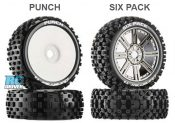 Get New Six Pack & Punch 1/8 Tires from Duratrax either Mounted or Unmounted
