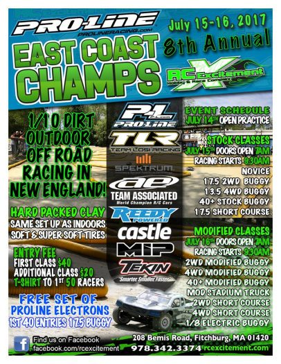 RCE Event This Weekend!  The RC Excitement East Coast Champs