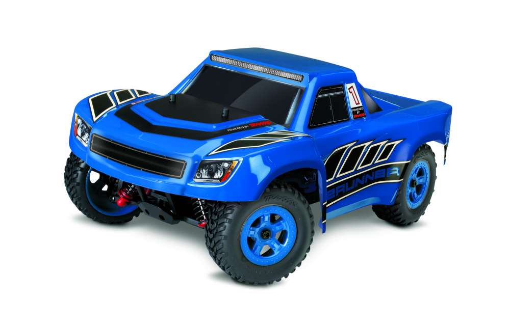 76064 5 Prerunner blue 3QTR FRONT LaTrax Desert Prerunner 1/18 Short Course Truck