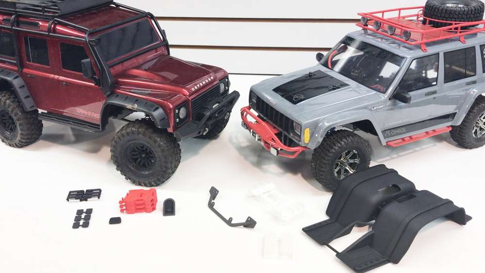 Scaleify Your Axial SCX10 or Traxxas TRX-4 - Knight Customs Scale Parts From Shapeways