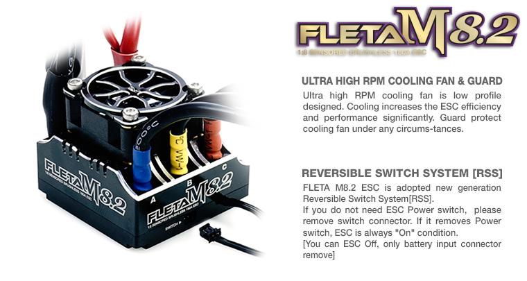 FLETA M8.2 Competition 18th Scale Brushless ESC 180A Black2