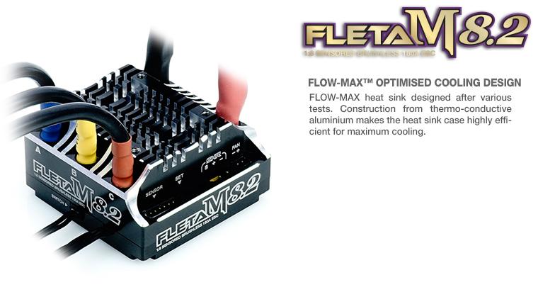 FLETA M8.2 Competition 18th Scale Brushless ESC 180A Black_3