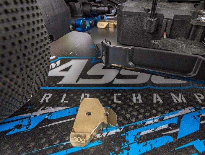 Factory Team Chassis Weights for the RC8B3.1 and B3.1e_1