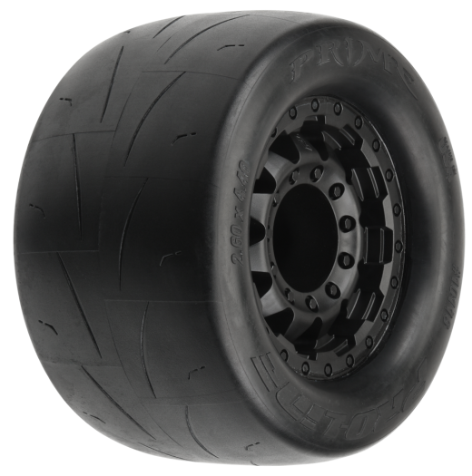 Prime 2.8 Street Tires Mounted on F-11 Black 17mm Wheels