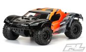 "Pre-Cut Monster Fusion Clear Body for Slash 2wd & Slash 4×4 with 2.8"" MT Tires"