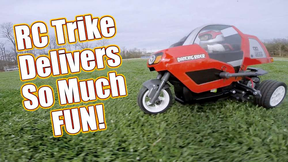 Tamiya Dancing Rider Trike Electric Kit - Pt 3 Running Video