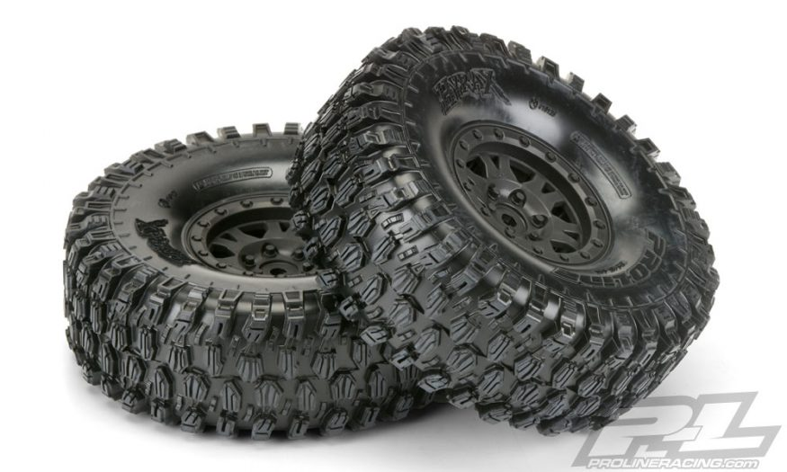 "Hyrax 1.9"" G8 Rock Terrain Truck Tires Mounted by Pro-Line"