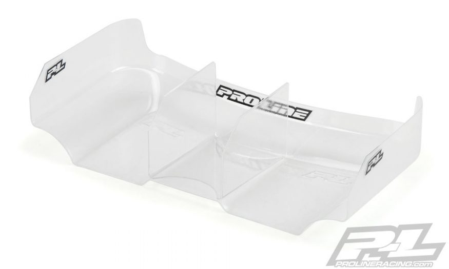 Air Force 2 Lightweight 6.5″ Clear Rear Wing with Center Fin by Pro-Line