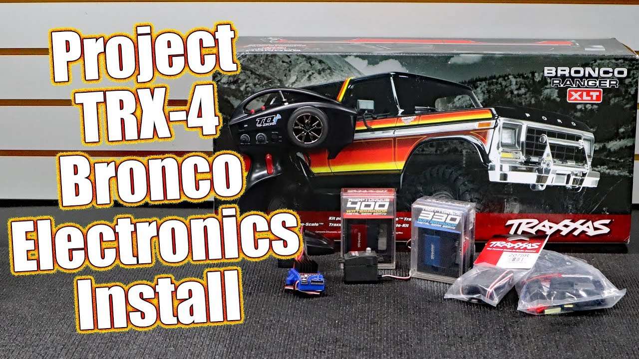 Servo Upgrade & BEC Install In Project Traxxas TRX-4 Lifted Ford Bronco