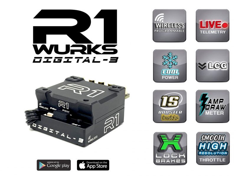 Smooth Power with the R1 Wurks Digital-3 Brushless ESC !