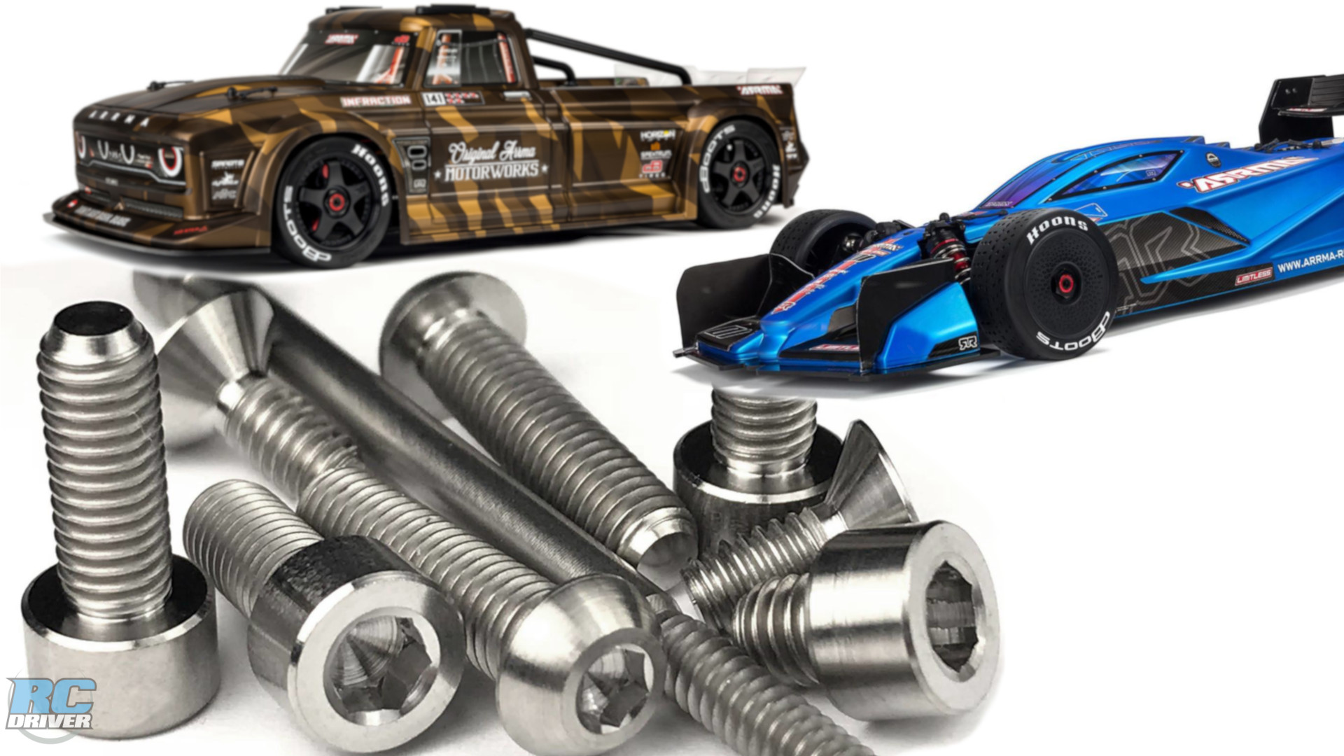 Lunsford Titanium Screw Kits for Arrma Infraction and Limitless
