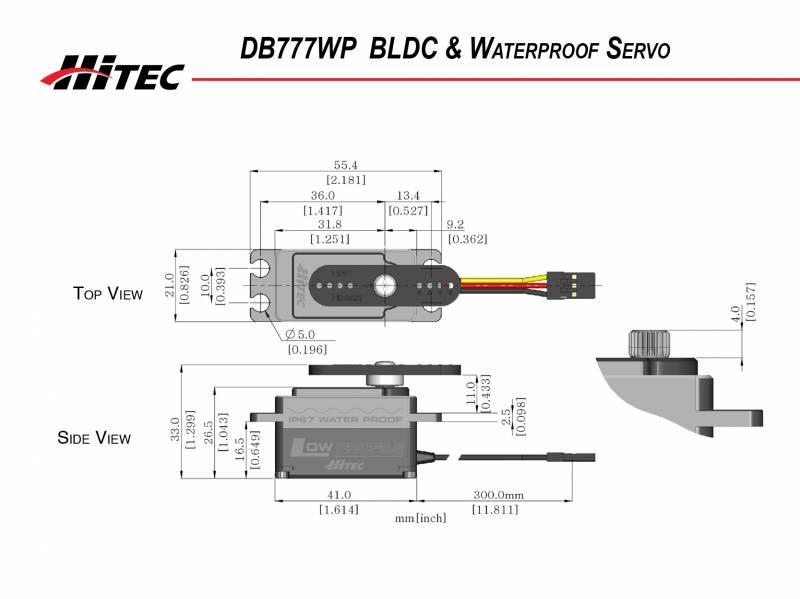 Hitec DB777WP low profile waterproof servo