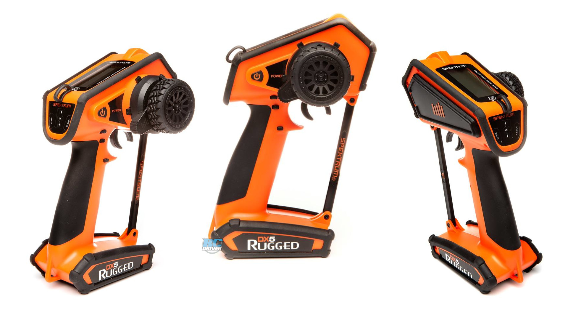 Spektrum DX5 Rugged DSMR transmitter, orange special edition