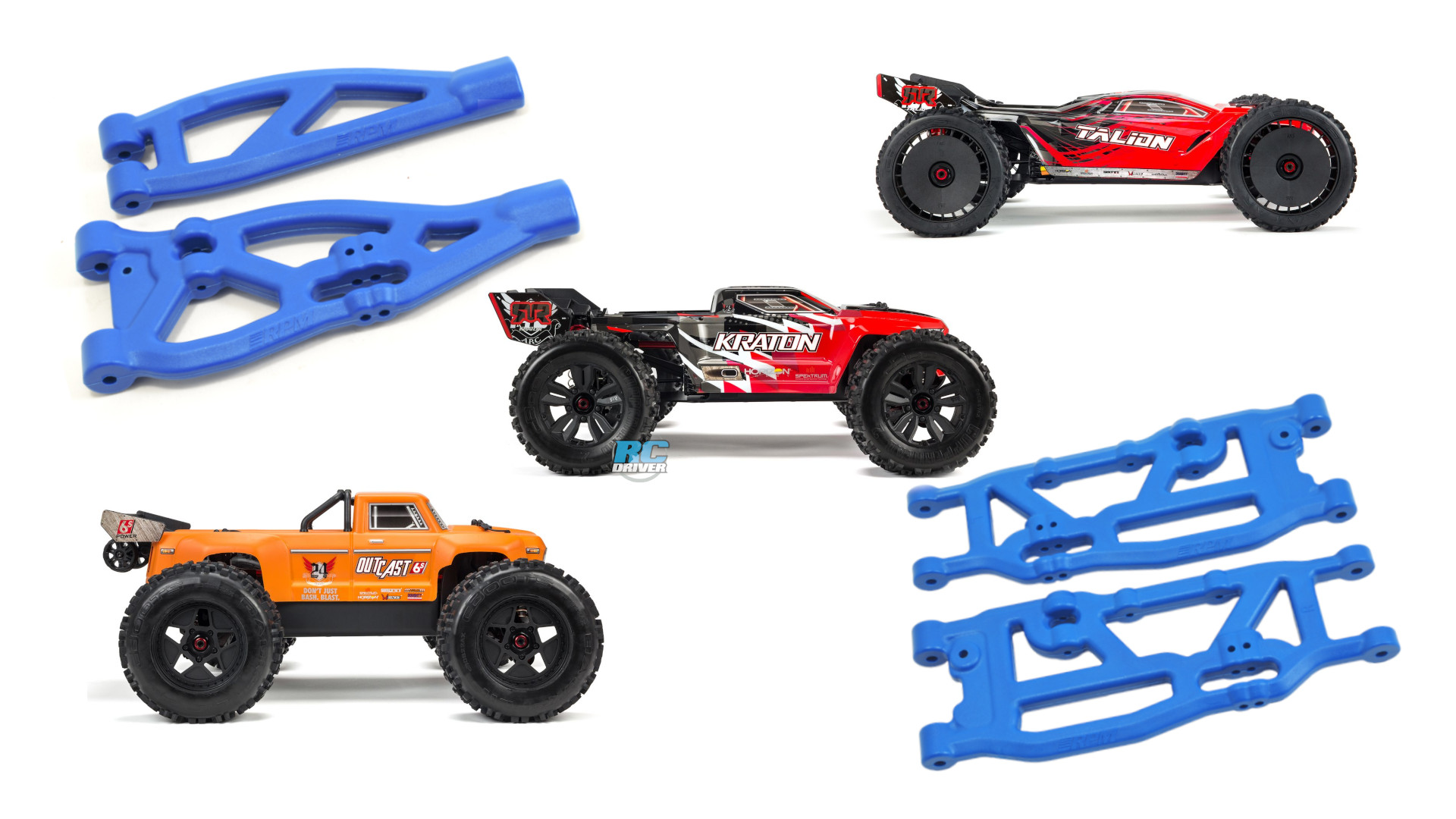RPM Suspension Arms for Arrma Vehicles
