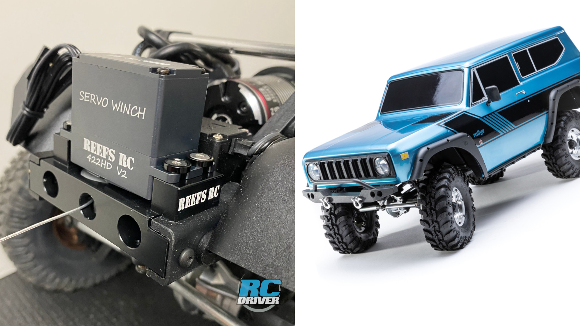 Reef's RC winch bumper mount for the Redcat Gen8 trail truck