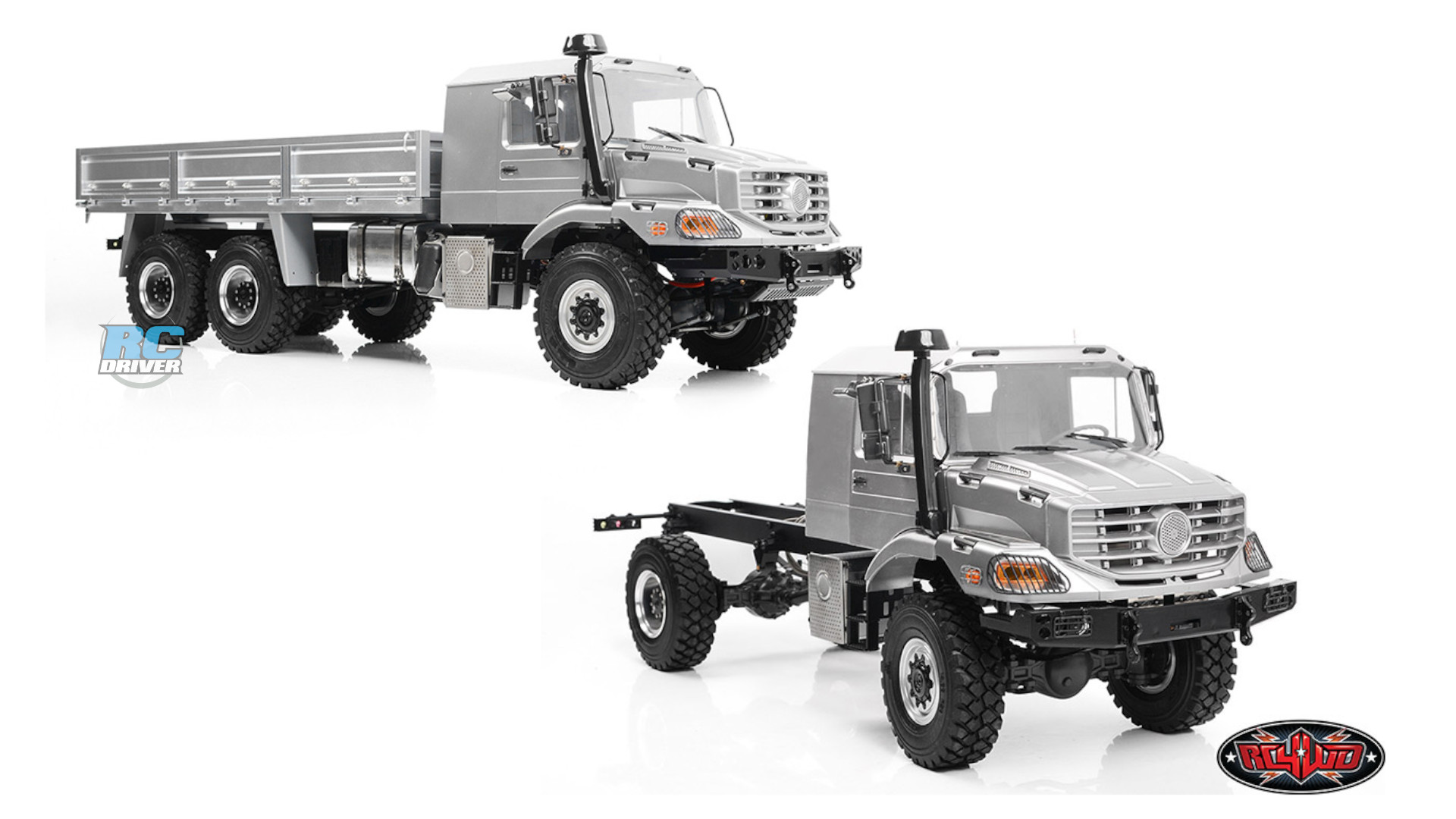 RC4WD 1/14 Overland 4x4 and 6x6 trucks