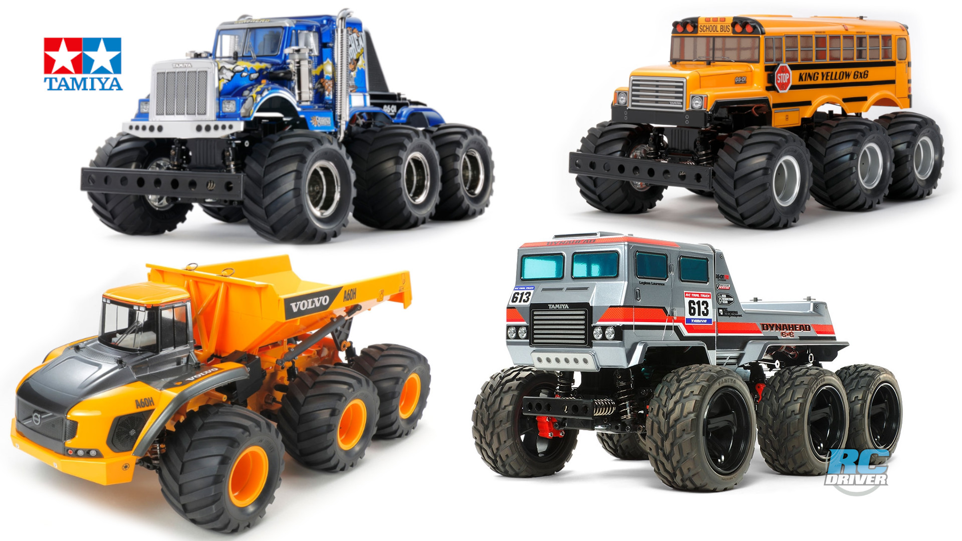 Tamiya 6x6 truck lineup, a closer look