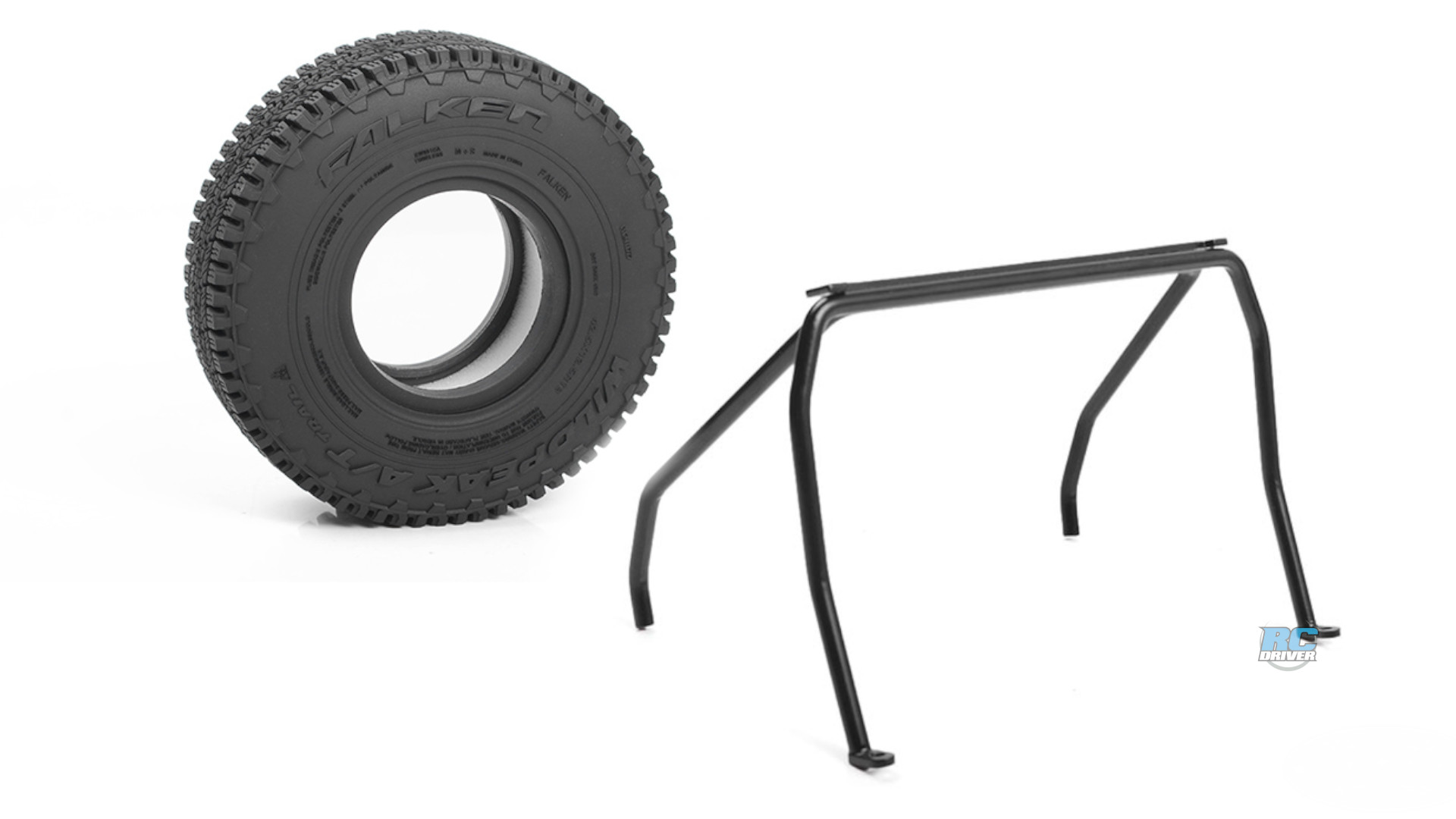 RC4WD Falken Wildpeak tires and Headache Rack