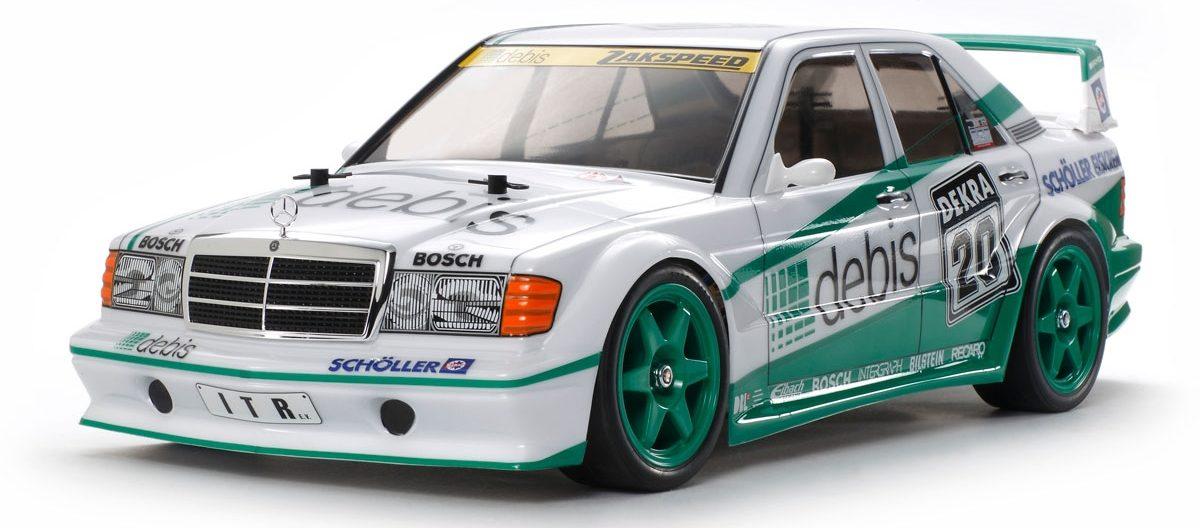 "Key hop-up options for the Tamiya Mercedes-Benz 190E ""Debis"""