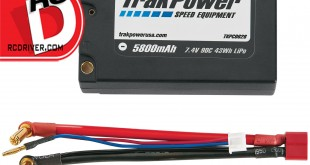 TrakPower - 5800mAh 90C 7.4V Square LiPo Battery with 5mm Bullet Connectors