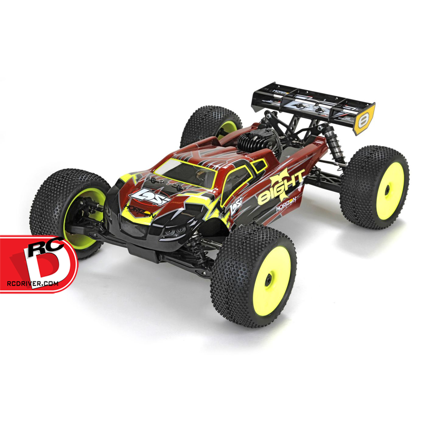 losi 8ight t gas truggy rtr with avc. Black Bedroom Furniture Sets. Home Design Ideas