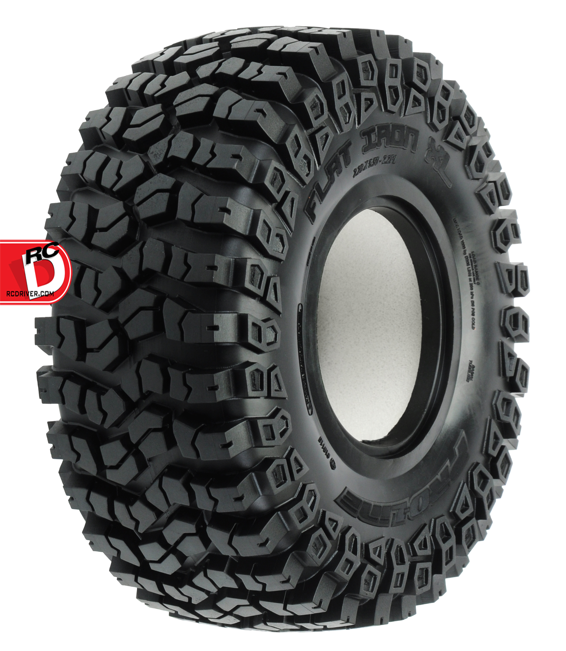 pro line flat iron xl 2 2 g8 rock terrain truck tires with memory foam. Black Bedroom Furniture Sets. Home Design Ideas