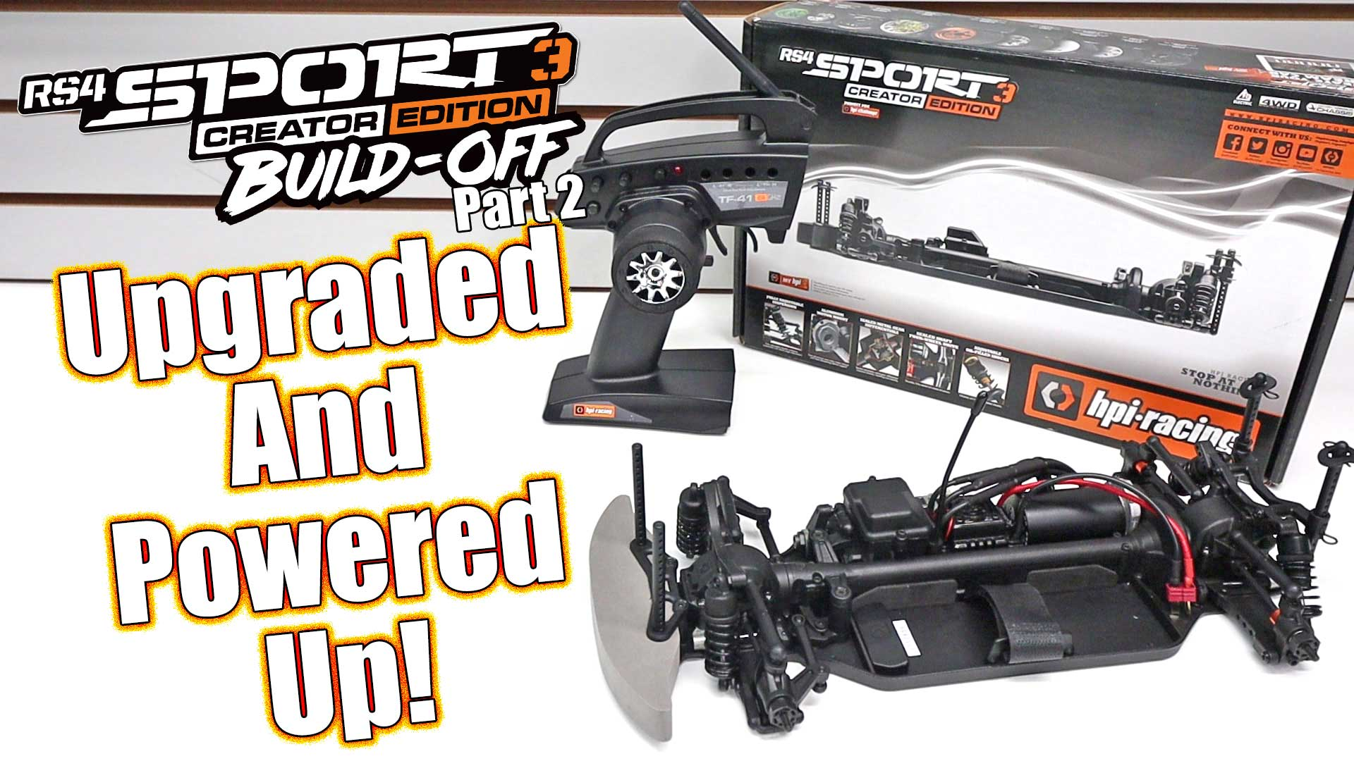 HPI Racing RS4 Sport 3 Creator Edition Build-Off Part 2