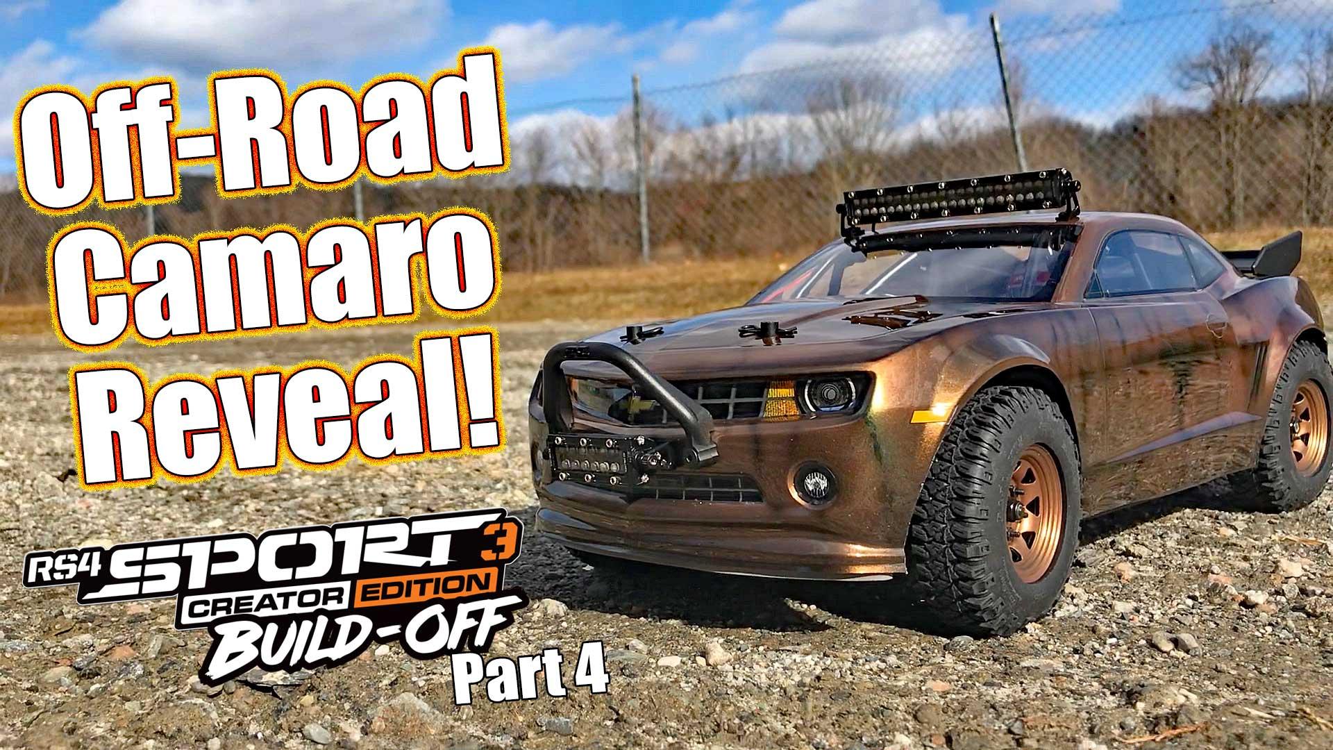 WILD Off-Road Camaro! - HPI Racing RS4 Sport 3 Build-Off Part 4