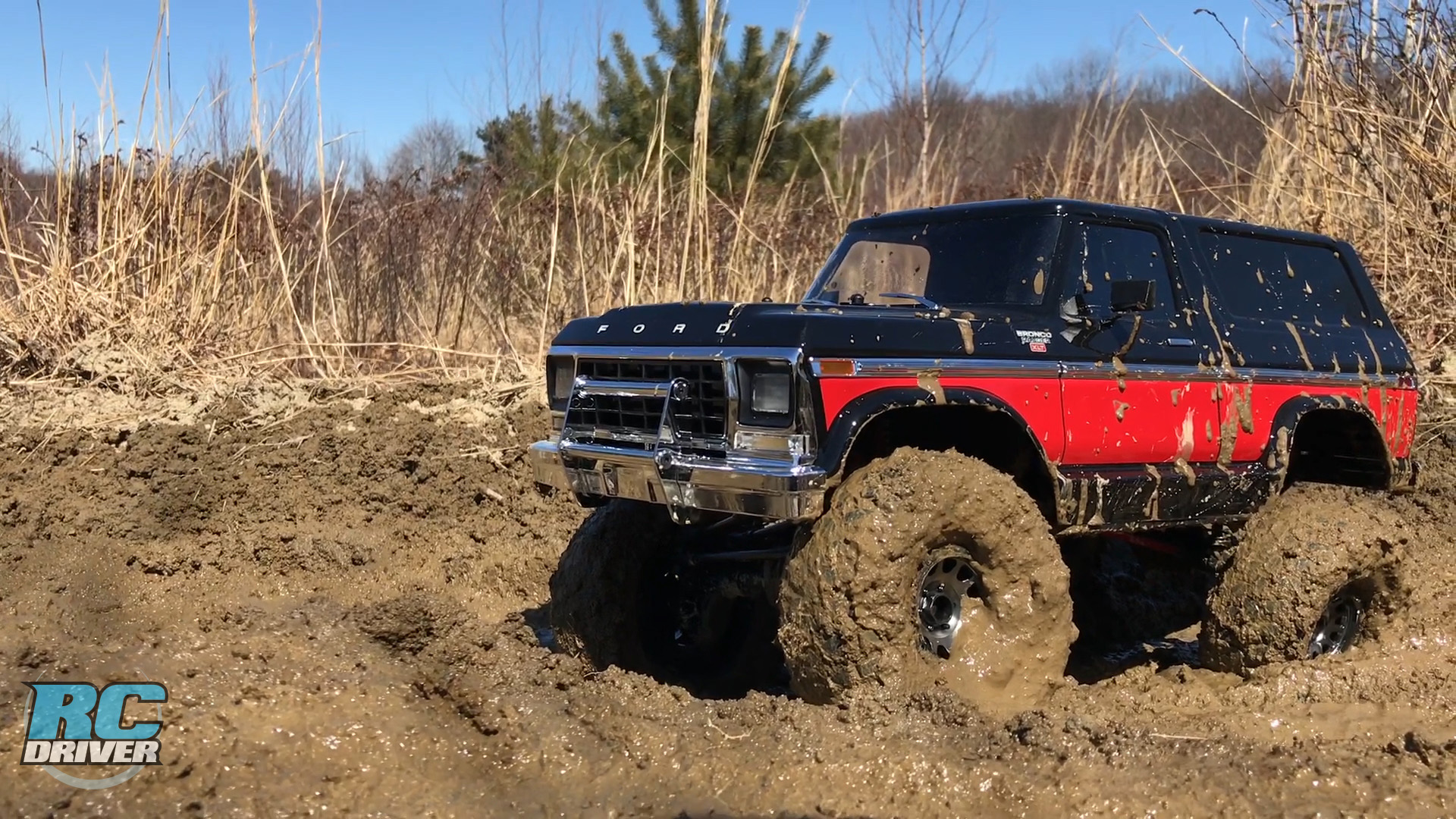 Traxxas TRX-4 Lifted Ford Bronco Off-Road Project Truck Action