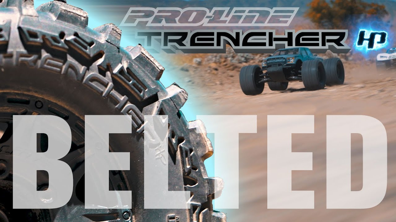 """Pro-Line Trencher HP 2.8"""" All Terrain BELTED Tires"""