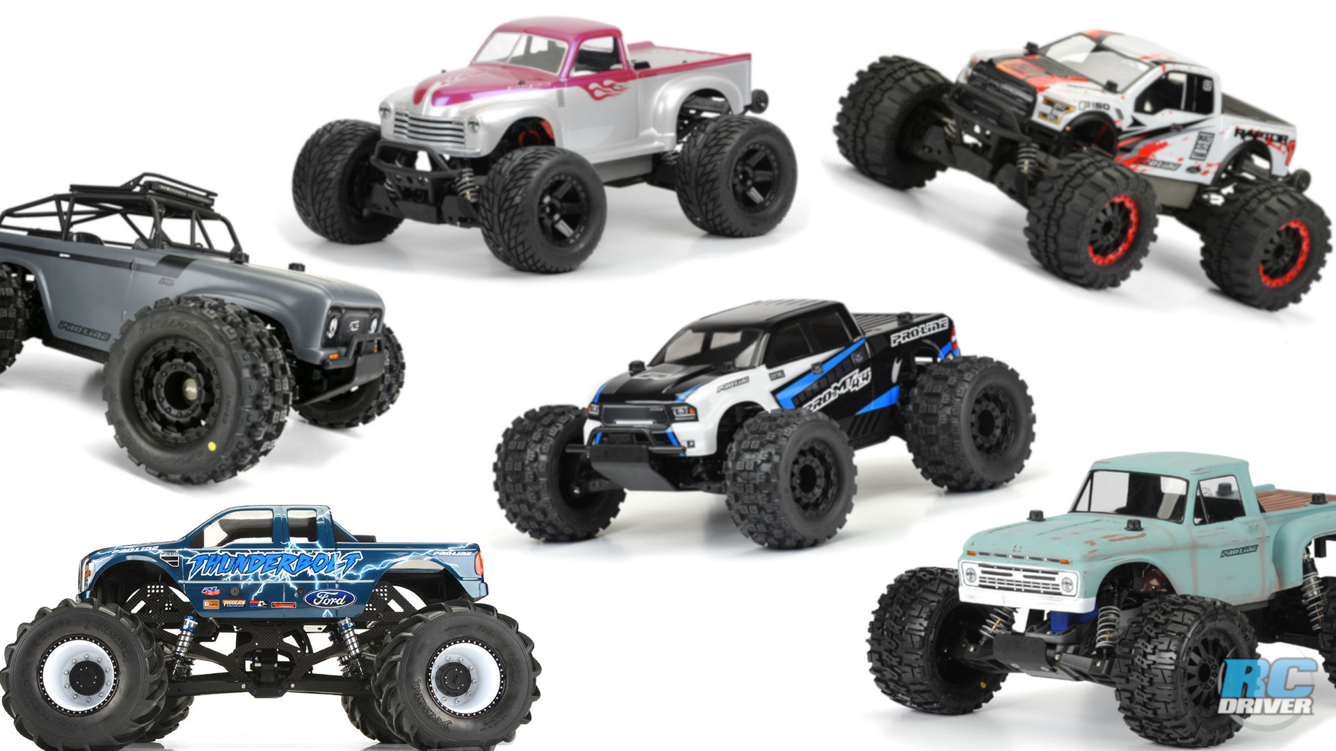 Pro-Line Monster Truck Bodies for 1/10-scale rigs