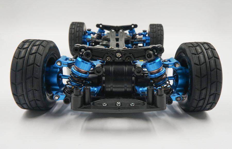Yeah Racing Rapid Performance kit conv Blu x Tamiya TT01 TT01E modellismo Allu