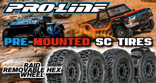Pro-Line Pre-mounted SC Tires | Raid 6x30 Removable Hex System