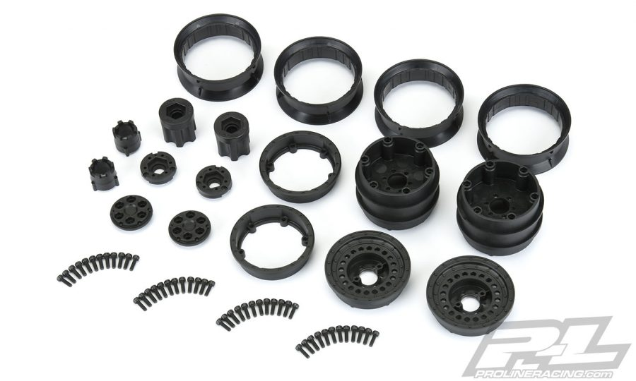 Pro-Line Carbine Dually Wheels & Trencher rock crawling tires