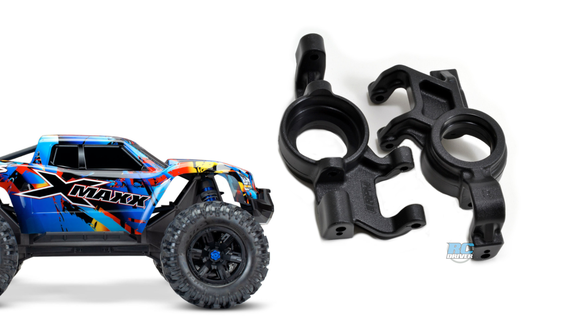RPM Oversized Front Axle Carriers for the Traxxas X-Maxx